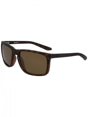 Dragon Dragon Melee Matte Tortoise Sunglasses bruin