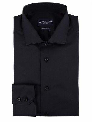 Cavallaro Napoli Cavallaro Napoli Heren Overhemd - Nosto Black Overhemd - Zwart