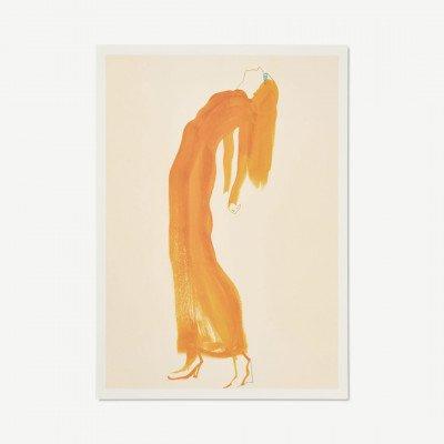 MADE.COM Paper Collective, Saffron Dress, print door Amelie Hegardt, 50 x 70 cm