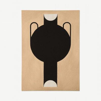 MADE.COM The Poster Club, Silhouette of a Vase 07, print door Studio Paradissi, 50 x 70 cm