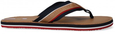 Tommy Hilfiger Camel Tommy Hilfiger Teenslippers Elevated Beach Flipflop