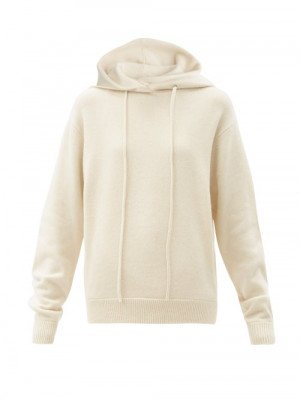 Matchesfashion Extreme Cashmere - No. 90 Be Cool Stretch-cashmere Hooded Sweatshirt - Womens - Cream