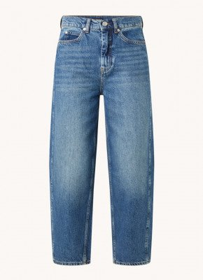 Whistles Whistles High waist tapered fit cropped jeans