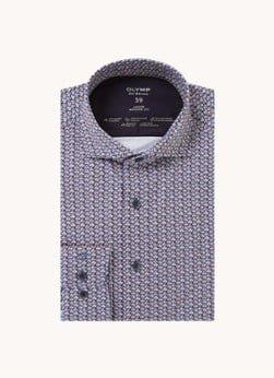 Olymp Olymp Modern fit overhemd met stretch en print