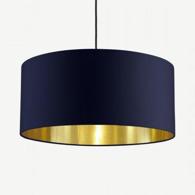 MADE.COM Oro hanglamp, marineblauw en messing
