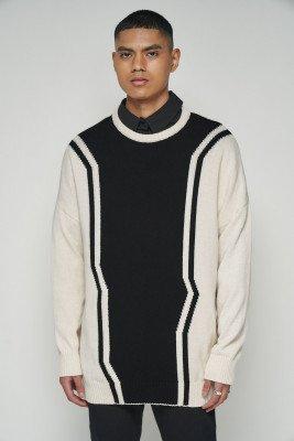 nu-in Contrast Longline Sweater