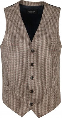 Scotch and Soda Yarn-Dyed Gilet Beige - Ecru maat M