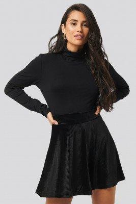 Trendyol Trendyol Velvet Knitted Skirt - Black