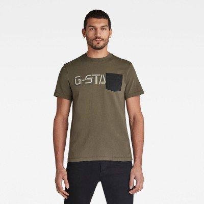 G-Star RAW Ripstop Pocket Graphic T-Shirt - Groen - Heren