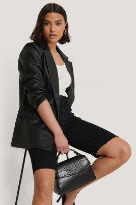 NA-KD Accessories NA-KD Accessories Top Handle Croc Bag - Black