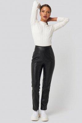 Karo Kauer x NA-KD Karo Kauer x NA-KD PU Leather Pants - Black