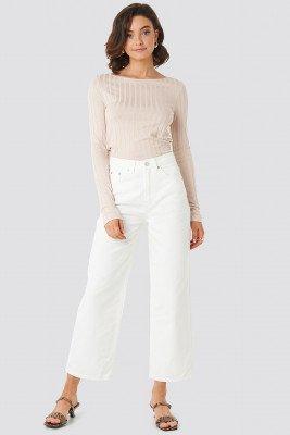 NA-KD Trend NA-KD Trend Loose Leg Jeans - White