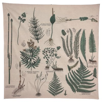 Firawonen.nl Guido brown wall painting cloth leaf patterns