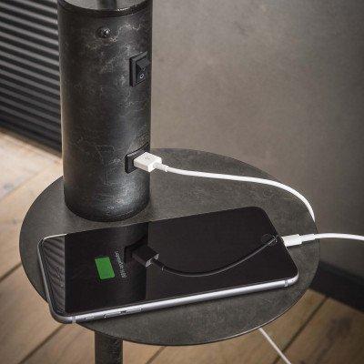 LifestyleFurn Vloerlamp 'Ashton' met USB oplaadpunt