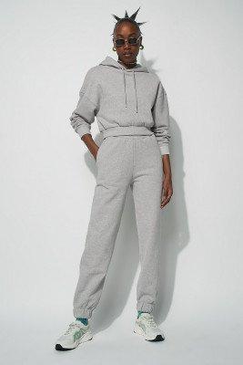 NU-IN Essential Oversized Cropped Hoodie