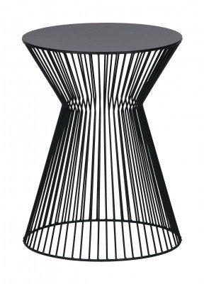 WOOOD WOOOD Bijzettafel 'Suus' 35cm, kleur Zwart
