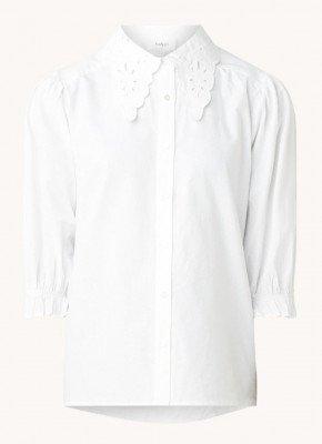 BAenSH ba&sh Yseult blouse met broderie en ruches