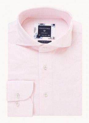 Profuomo Profuomo Slim fit strijkvrij overhemd met cut away kraag