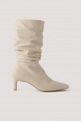 NA-KD Shoes NA-KD Shoes Laarzen Met Vierkante Neus - Beige