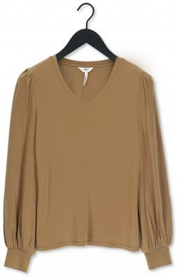 Object Bruine Object Top Jannie Ls V-neck Top