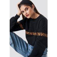 NA-KD Trend N Branded Sweatshirt - Black