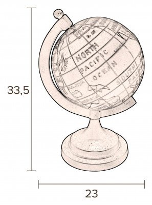 Dutchbone Dutchbone Wereldbol 'Globe' 33.5cm