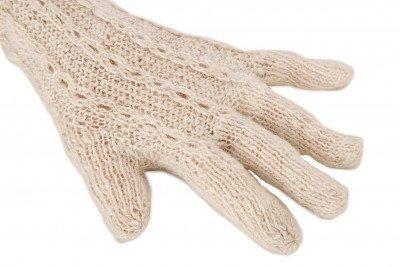 Paqocha by EcuaFina 100% Baby Alpaca Handschoenen - Duurzaam, Warm & Uniek - Beige
