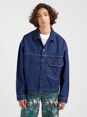 Levi's Stay Loose Type I Truckerjack - Blauw / Show Me Your Soul