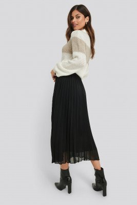 NA-KD Trend NA-KD Trend Ankle Length Pleated Skirt - Black