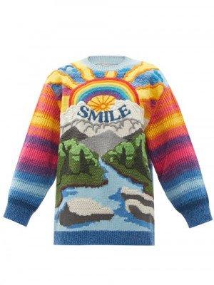 Matchesfashion Stella Mccartney - Smile Intarsia Wool-blend Sweater - Womens - Multi