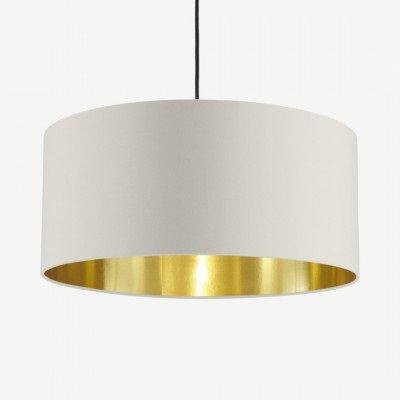MADE.COM Oro hanglamp, klei wit en messing