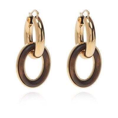 Jil Sander Brass earrings