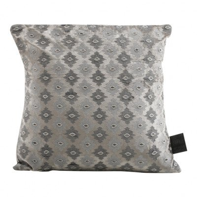 Firawonen.nl PTMD Velvet cream square cushion with pattern s