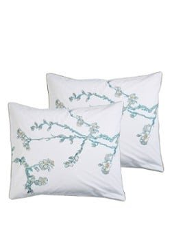 Beddinghouse Beddinghouse Embroidered Blossom kussensloop van katoen perkal 200TC in 2-pack