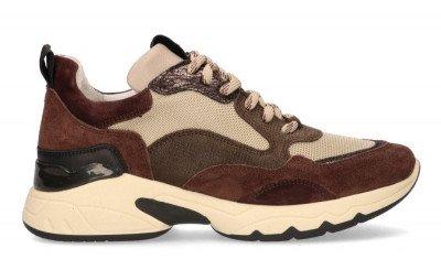 VIA VAI VIA VAI Zaira Fae Bruin/Beige Damessneakers