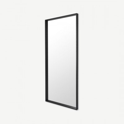 MADE.COM Wilson spiegel, massief hout, 80 x 180 cm, zwart