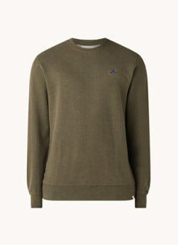 RVLT Revolution RVLT Revolution Sweater in biologische katoenblend met borduring