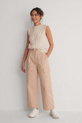 NA-KD NA-KD Organisch Jeans Met Wijde Pijpen - Pink