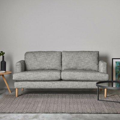 MADE.COM Mira geweven vloerkleed 160 x 230 cm, grijs