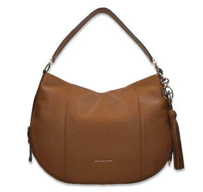 Michael Kors Michael Kors Brooke Large Pebbled Leather Shoulder Bag Cognac Tas