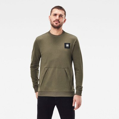 G-Star RAW Tweater Box Logo Pocket - Groen - Heren