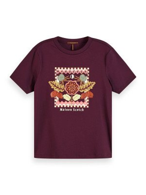 Maison Scotch Maison Scotch Relaxed fit tee with embroidered ar