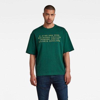 G-Star RAW Text Graphic Loose T-Shirt - Groen - Heren