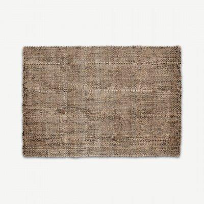 MADE.COM Riya geweven juten vloerkleed, 120 x 170 cm, natuurlijke kleuren