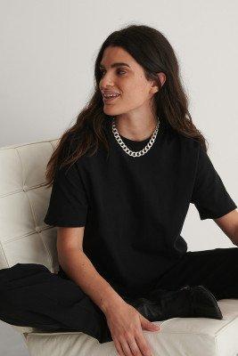 NA-KD Basic Oversized T-Shirt - Black