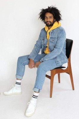 Kuyichi Bob Hooded Sweater Spicy Yellow - Yellow - XL