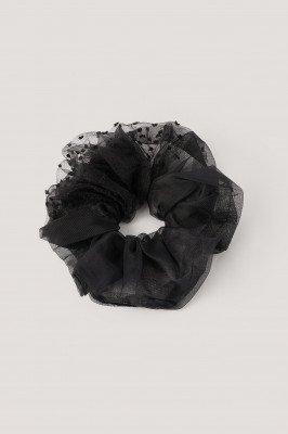 NA-KD Accessories Organza Scrunchie - Black