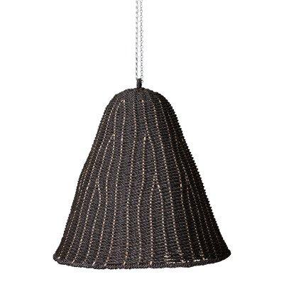 Firawonen.nl Ptmd lars zwart hangende lampenkap van geweven