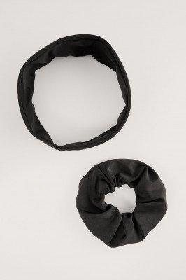 NA-KD Swimwear NA-KD Swimwear Headband and Scrunchie set - Black