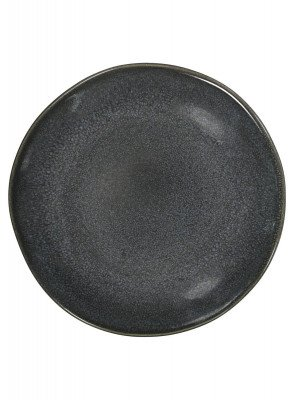 HEMA HEMA Gebaksbord - 16.5 Cm - Porto - Reactief Glazuur - Zwart (zwart)